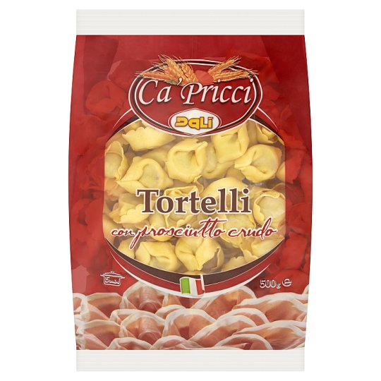 Dalì Ca' Pricci Tortelli Pasta with Raw Ham Filling 500 g