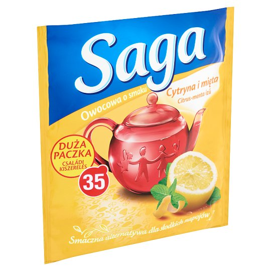 Saga Citrus-Mint Flavoured Fruit Tea 35 Tea Bags