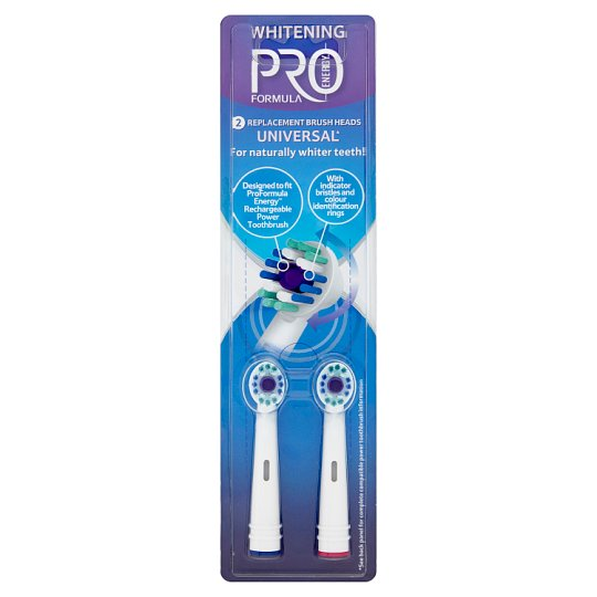 Tesco Pro Formula Total Whitening cserélhető fogkefefej 2 db