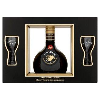 Unicum Plum Herb Liqueur + 2 Glasses 35% 0,7 l