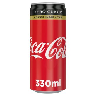 Caffeine-Free Coca-Cola Zero Energy-Free Carbonated Soft Drink with Sweeteners 330 ml