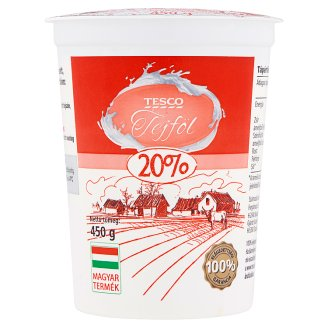 Tesco Sour Cream 20% 450 g
