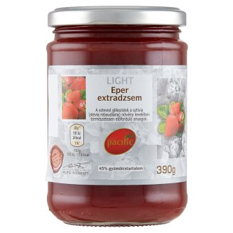 Pacific Light Strawberry Extra Jam with Sugar and Sweetener 390 g