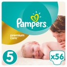 Pampers Premium Care Size 5 (Junior) 11-18kg, 56 nappies