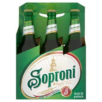 Soproni Klasszikus világos sör 4,5% 6 x 0,5 l