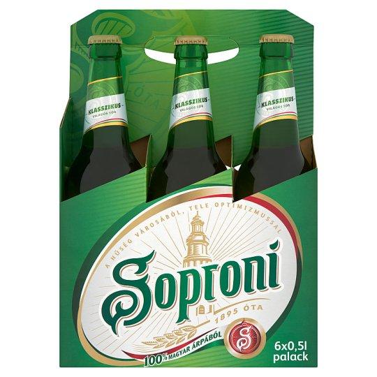 Soproni Klasszikus Lager Beer 4,5% 6 x 0,5 l Bottle