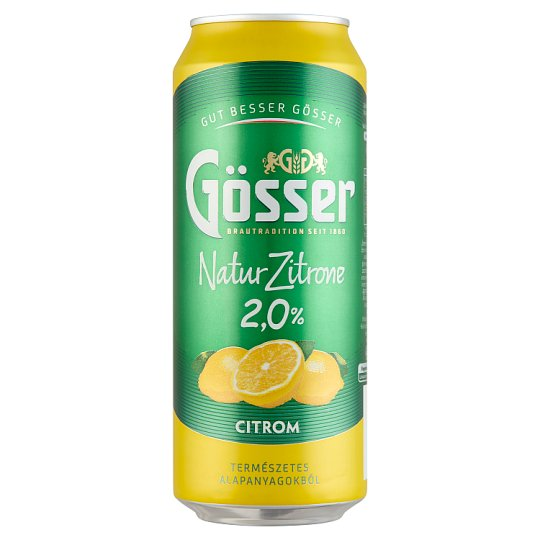 Natur Zitrone Lemon Flavoured Beer 2% 0,5 l Can
