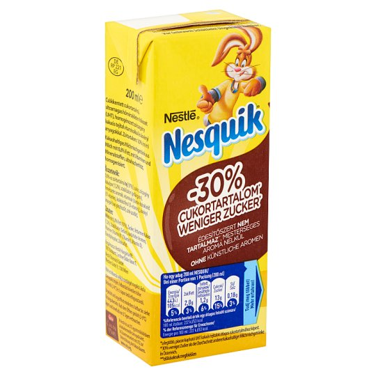 Nesquik UHT Low-Fat Cocoa Flavoured Milk Drink with Added Vitamins 200 ml