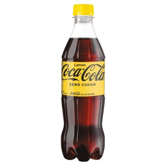 Coca-Cola Zero Cola and Lemon Flavor Energy-Free Carbonated Soft Drink with Sweeteners 500 ml
