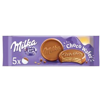 Milka Choco Wafer kakaós krémmel töltött ostya alpesi tejcsokoládéval mártva 5 db 150 g