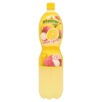 Pfanner Mixed Fruit Drink with Lemon-Lychee Flavour, Vitamin B, C and E 1,5 l