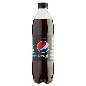 Pepsi Black Cola Flavoured Energy-Free Carbonated Soft Drink with Sweeteners 0,5 l