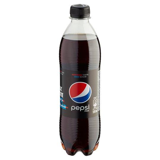 Pepsi Black colaízű energiamentes szénsavas üdítőital édesítőszerekkel 0,5 l