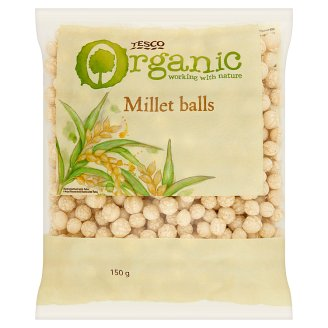 Tesco Organic Slightly Salted Gluten-Free Extruded Millet Balls 150 g