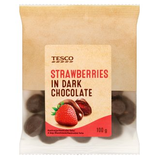 Tesco Strawberries in Dark Chocolate 100 g
