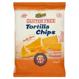 Sam Mills gluténmentes sajtos ízesítésű tortilla chips 125 g