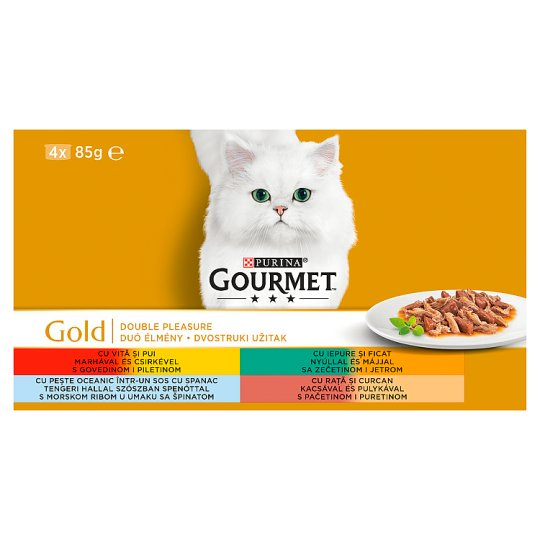 Gourmet Gold Complete Pet Food for Adult Cats in 4 x 85 g