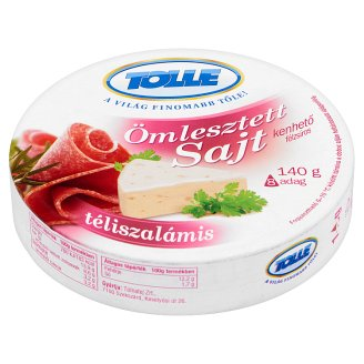 Tolle Semi-Fat Processed Cheese Spread with Salami 8 pcs 140 g