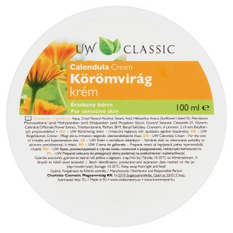 UW Calendula Cream for Sensitive Skin 100 ml