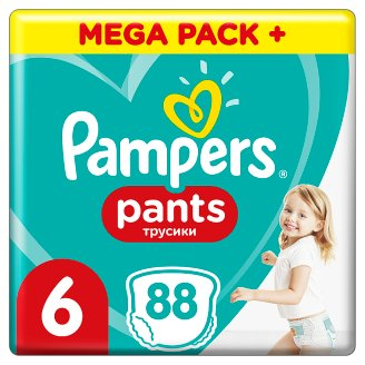 Pampers Pants Size 6, 88 Nappies, 15+kg, Absorbing Channels