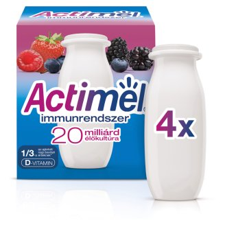 Danone Actimel Low-Fat Forest Fruit Flavoured Yoghurt Drink with Live Culture 4 x 100 g