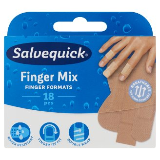 Salvequick Finger Mix Plaster 18 pcs