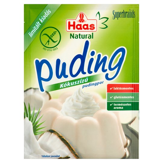 Haas Natural Gluten-Free Coconut Flavoured Pudding Powder 40 g