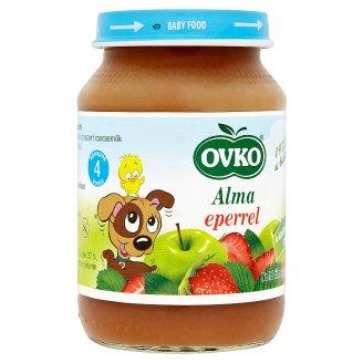 Ovko glutén- és tejszármazékmentes alma eperrel bébidesszert 4 hónapos kortól 190 g
