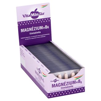 Vitamintár Magnesium + Vitamin B₆ Supplement Film-Coated Tablets 10 pcs 12,5 g