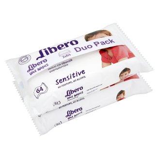 Libero Sensitive nedves törlőkendők érzékeny bőrre 2 x 64 db