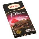Valor étcsokoládé ropogós málnadarabokkal 100 g