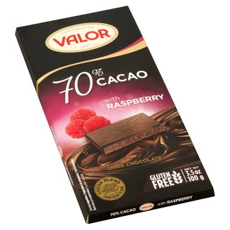 Valor Dark Chocolate with Crunchy Raspberry Pieces 100 g