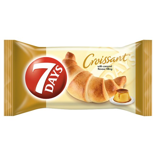 7DAYS Croissant with Caramel Flavour Filling 60 g