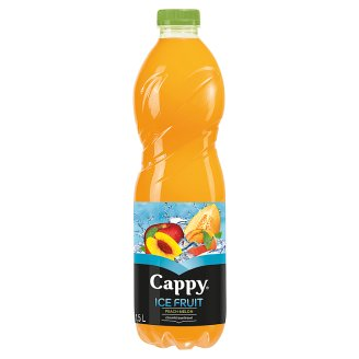Cappy Ice Fruit Peach-Melon Non-Carbonated Apple-Peach-Melon Drink with Lemongrass Flavour 1,5 l