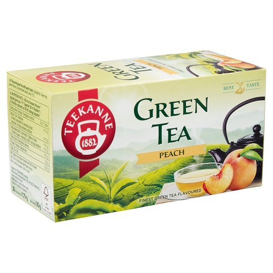 Teekanne Flavoured Green Tea with Peach Taste 20 Tea Bags 35 g