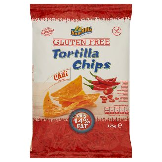 Sam Mills Gluten-Free Nacho Chili Flavoured Tortilla Chips 125 g