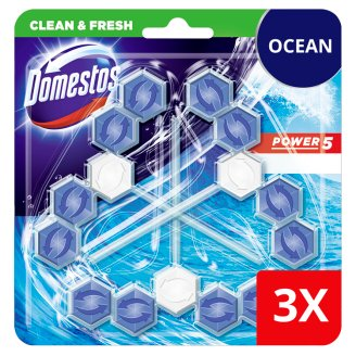 DOMESTOS Power5 WC frissítő blokk Ocean 3 x 55 g