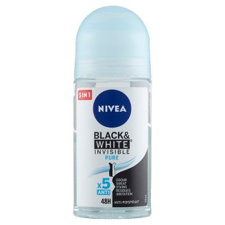 NIVEA Black & White Invisible Pure Anti-Perspirant Roll-On Deodorant 50 ml