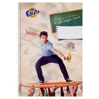 Fanta A/4 60 Sheets Plain Spiral Exercise Book