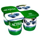 Danone Activia Low-Fat Blueberry Flavoured Yoghurt with Live Cultures 4 x 125 g