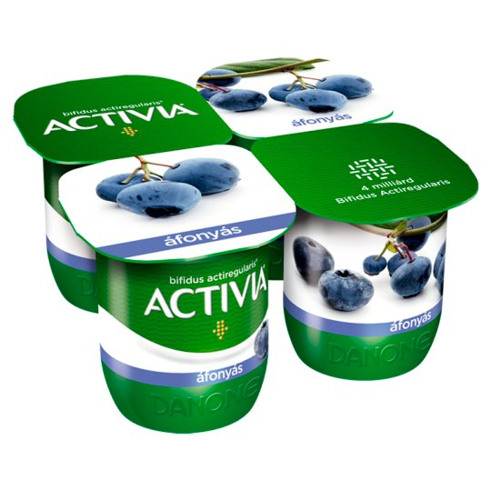 Danone Activia Blueberry Flavoured Yoghurt with Live Cultures 4 x 125 g