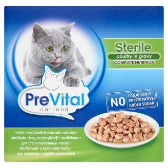 PreVital teljes értékű állateledel felnőtt ivartalanított macskák számára baromfival 8 x 100 g