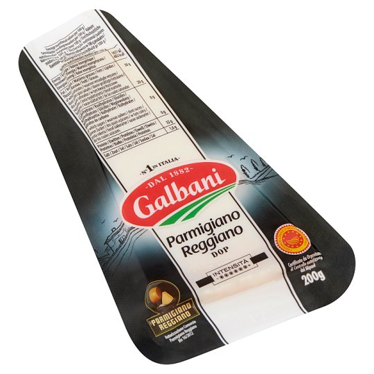 Galbani Parmigiano Reggiano Semi-Fat Grated Hard Cheese 200 g