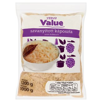 Tesco Value Pickled Cabbage 1200 g