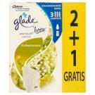 Glade by Brise One Touch Mini Spray Gyöngyvirág aeroszolos légfrissítő utántöltő 3 x 10 ml