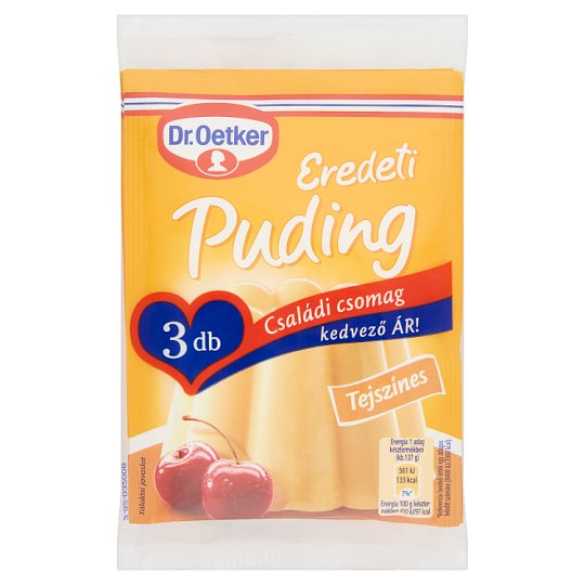 Dr. Oetker Eredeti Puding Cream Flavoured Pudding Powder 3 x 40 g