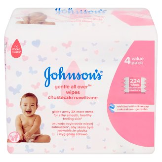 Johnson's Gentle All Over Baby Wipes 224 pcs