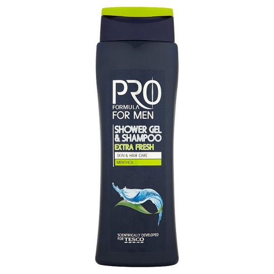 Tesco Pro Formula for Men Extra Fresh tusfürdő & sampon 400 ml