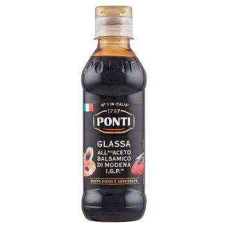 Ponti Glassa Gastronomica Balsamic Vinegar Cream Made from Modena Balsamic Vinegar 250 g