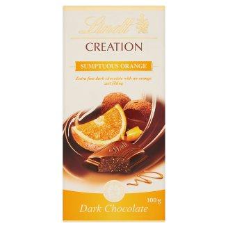 Lindt Creation Extra Fine Dark Chocolate with an Orange Zest Filling 100 g